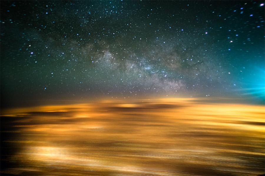 Fotografare la Via Lattea un aereo