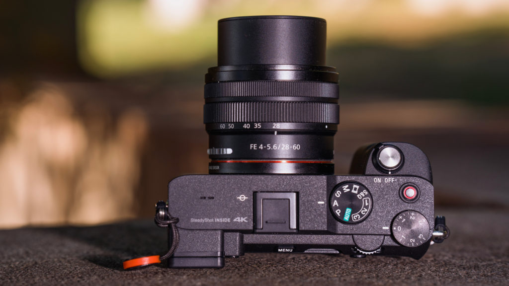 Recensione Sony a7C: Top