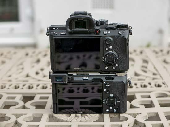 Sony A7C vs A7III back